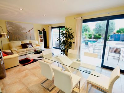 Photo for Modern Villa with Wi-Fi, Pool, Lawn and Air Conditioning; Parking Available