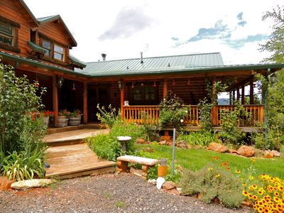 Photo for Enjoy A Lovely Mountain Top Lodge, Overlooking Yosemite's Mountains And Peaks