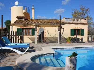 Photo for cozy bar. Finca with pool, quiet, yet central, friendly, wireless