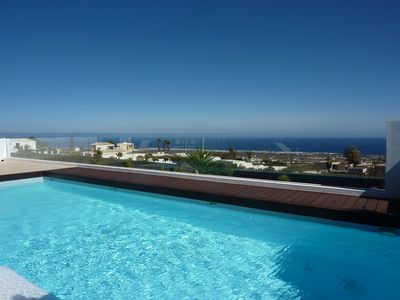 Photo for modern accommodation, large pool, sea view, satellite TV