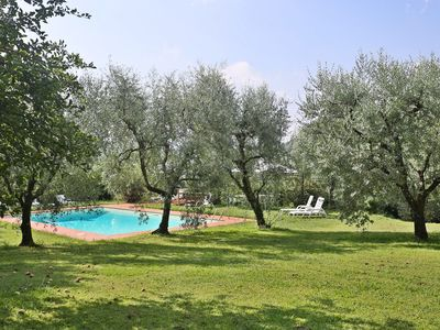 Photo for Beautiful private villa with WIFI, private pool, TV, terrace, pets allowed, parking, close to Lucca