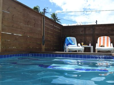 Photo for Private well-equipped house: pool+garden+sunsets!