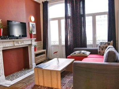 Photo for Antoine III apartment in Brussels Centre with WiFi, balcony & lift.