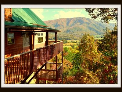 Photo for CHERIE'S CHALET AMAZING VIEWS!! Hot tub,Wood fireplace,Games,Gas grill Views!