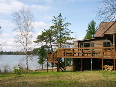 Photo for LITTLE LAKE COTTAGE: 20 minutes from Marquette! Pet-friendly, private lakefront home! Sleeps 8