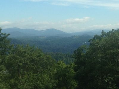 Photo for Up to 7BR/5.5BA NC Blue Ridge Mountain Luxury Cabin - Long Views & ADA Friendly
