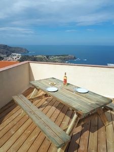 Photo for Comfortable house overlooking the Mediterranean Sea 4 people Cote Vermeille