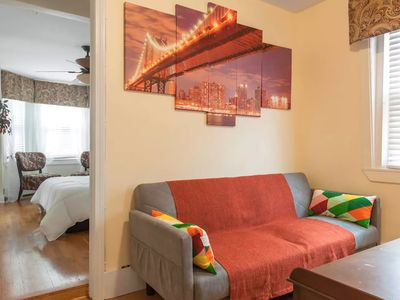 Photo for Entire 1bd apartment with a den,  w/terrace, walk to Harvard and MIT!