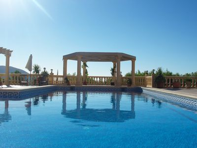 Photo for Beautiful private villa with A/C, private pool, WIFI, TV, washing machine, pets allowed and parki...