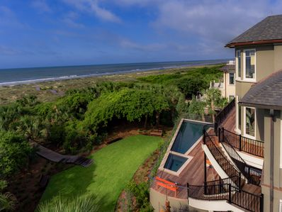 Oceanfront home with private pool and boardwalk