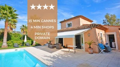 Photo for ❤️ Villa with swimming pool in private estate ❤️ 15 minutes from Cannes ❤