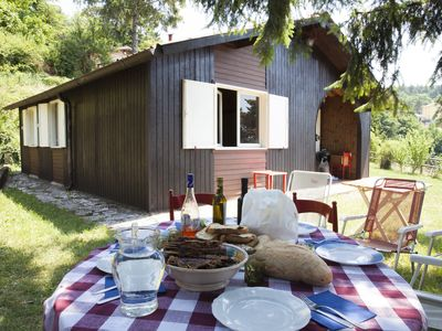 Photo for Splendid mountain Chalet, overlooking Lake Garda, near Verona Free Wifi