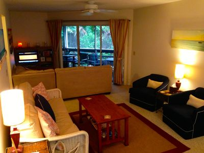 Photo for Steps away from the beach, 3 pools, Sauna, Tennis, shuffleboard & exercise Room