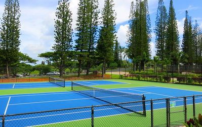Tennis Courts open to all and just minutes away.