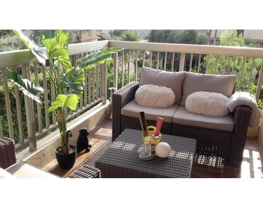 Photo for 2p fully equipped air-conditioned, beautiful terrace, 500m from the sea