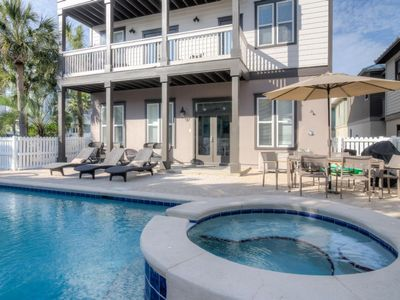 Photo for Barefoot Sands- Gulf View, Private Pool, Gated Neighborhood South of 30A, Walk/Bike to Rosemary Beach