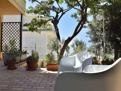 Photo for Mini Apartment in a villa 500 meters from the sea. Bike, garden. August.