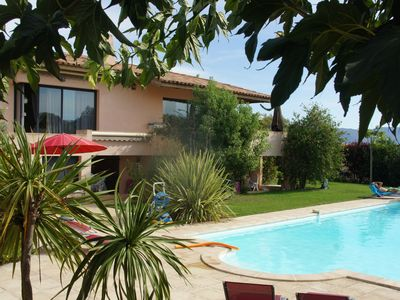 Photo for IN CHARMING VILLA SAGONE LARGE SWIMMING POOL SUPERB FRAME NEAR ALL BEACHES