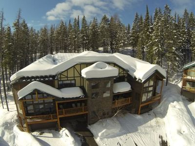 Photo for Prime Whitefish Ski-in Ski-out Luxury Big Mountain Vacation Rental + Fireplace!