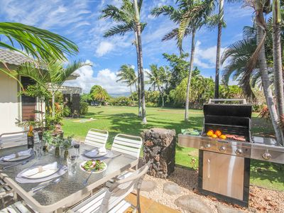 Photo for The Palms Impressive Poipu 3bd with premium interiors and large tropical lawn