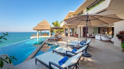 Photo for Modern and Luxurious Villa, Heated Pool, Gym, Outdoor Hot Spa, Outdoor Palapa Dining Area, A/C