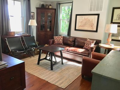 Family room equipped with a DVD player, movies, games and books.