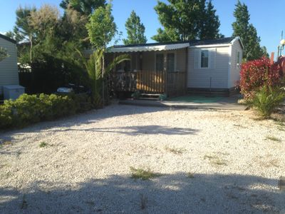 Photo for Rent comfortable and air conditioned mobile home in camping 4 * 300m from the sea