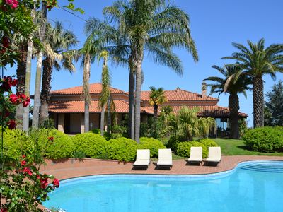 Photo for Large Country Chic Villa in a Landscaped Private Garden with Pool.