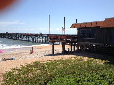 Flagler Beach Pier, a block and a half away from Hibiscus
