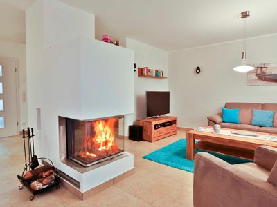 """Photo for House half A - Thatched roof Beach Villa """"Babette"""", directly on the sea, with sauna .."""