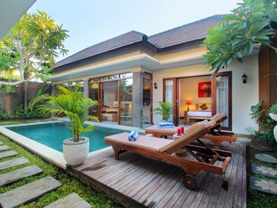 Photo for Colourfully 2BR villa in heart of Seminyak, CLOSE TO SHOPS & BEACH