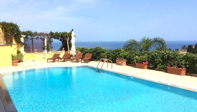 Photo for TAORMINA MATIS VILLA with Private Pool + Sea View Terrace