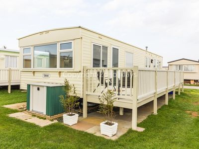 Photo for 8 berth caravan for hire by the beautiful beach of Heacham in Norfolk ref 21055