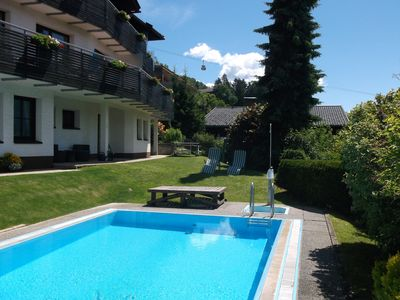 Photo for Perfect View with large balcony overlooking Lienz, swimming pool, sauna, parking