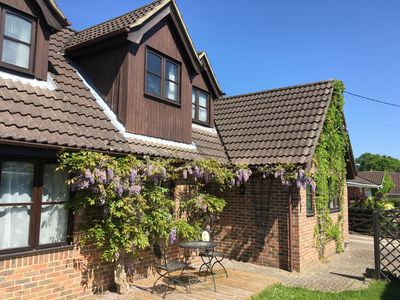 Photo for Stunning Rustic Chalet-Bungalow, New Forest District