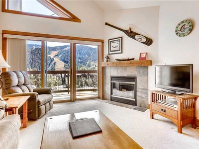 Photo for Cute condo with ski area views, indoor pool & hot tub, great for summer