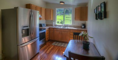 G & Z has a full size kitchen with all the amenities.