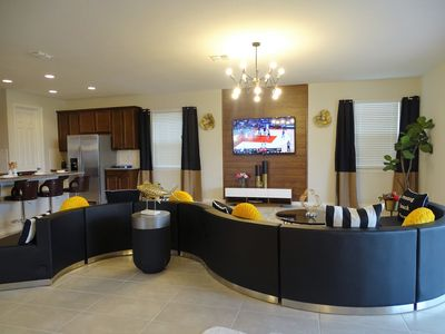 Photo for NEW 2019 Luxury 9BR  Disney Home Private W/ Pool & Tub @Gated Resort Sleeps 26