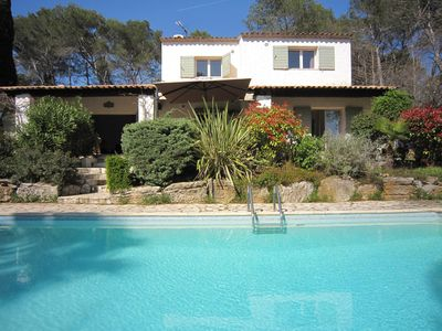 Photo for Ideal Valbonne 6 bedroom holiday villa with private pool and large garden