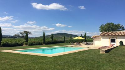 """Photo for 4 """"épis"""" charming gîte with pool in the Beaujolais – pets are allowed"""