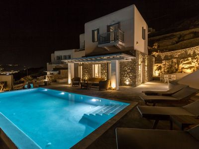 Photo for Luxury Mykonos Carpe Diem Villa 3 | Private Pool | Sleeps 10 | 4 Bedrooms | 3 Bathrooms | Korfos