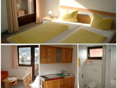 Photo for Top 6 apartments / 1 bedroom / shower, WC - Gästehaus Edelweiss