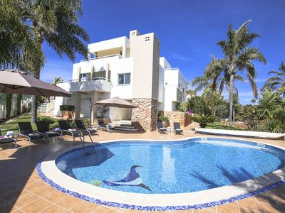 Photo for Luxury house sea views, private heated pool, AC, TV, WiFi, BBQ, family friendly!