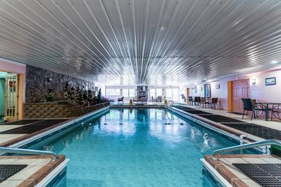 Swim all year round in our heated indoor pool.