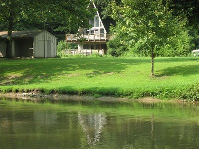 Veiw of the house from the creek.