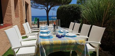 Photo for Apartment  at 11 meter from the sand beach of  La fosca