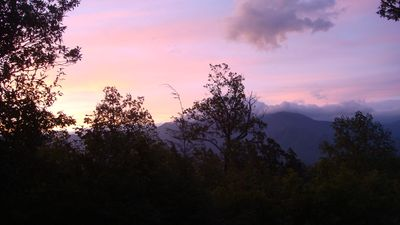 Awesome view of Mt. LeConte from the front deck of the chalet