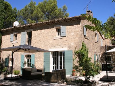 Photo for Luxury 3 bedroom detached stone house, rural location, private heated pool