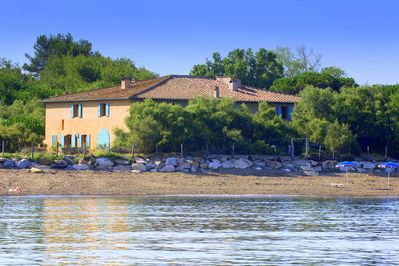 The villa seen from the sea.