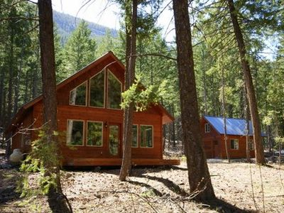 Photo for Blue Pine Guest House - luxury cabin close to the trails!